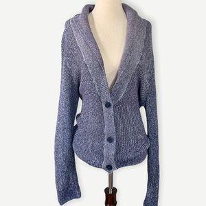 AMERICAN EAGLE XL Purple Button Sweater Cardigan